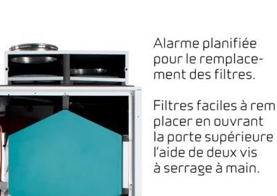 Compact P - Alarme planifiée pour le remplacement