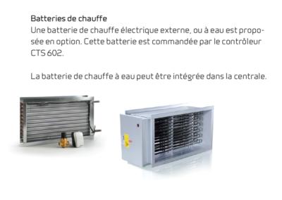 Comfort 5000 - batteries de chauffe
