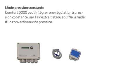 Comfort 5000 - mode pression constante