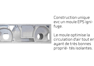 Comfort CT150 - Construction unique evc un moule EPS ignifuge