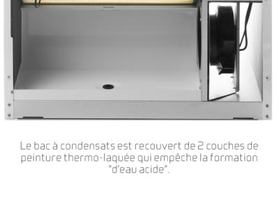 Comfort CT300_Le bac à condensats