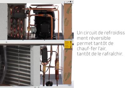 VPL 15 - circuit de refroidissement réversible